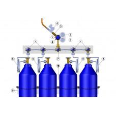 Endüstriyel Tip Basınç Kontrol Paneli - 4 tüplük